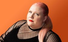 Lindy West Wearing A Black Shirt